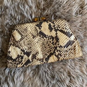 Vintage Banana Republic Silk Snakeskin Clutch
